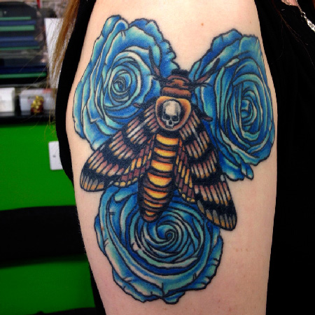 death head moth tattoo