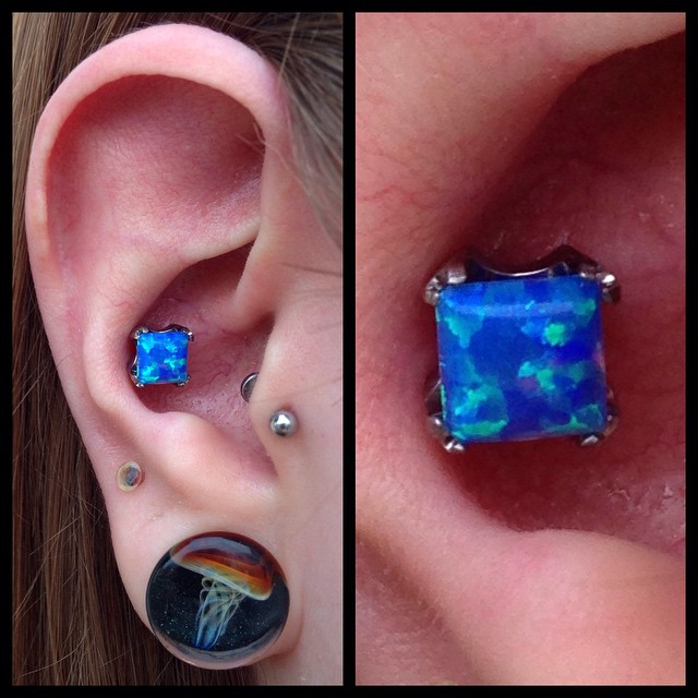 multiple ear piercing and tunnel