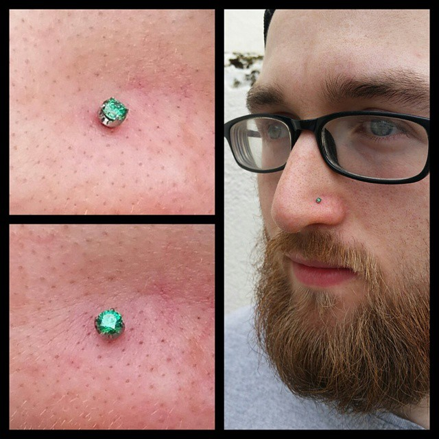 male nose stud